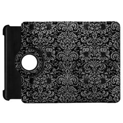 Damask2 Black Marble & Gray Leather Kindle Fire Hd 7