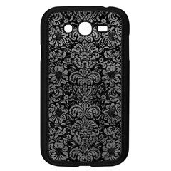 Damask2 Black Marble & Gray Leather Samsung Galaxy Grand Duos I9082 Case (black)