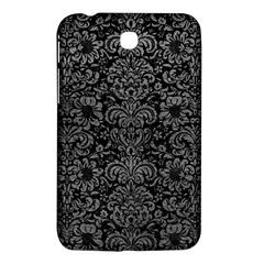 Damask2 Black Marble & Gray Leather Samsung Galaxy Tab 3 (7 ) P3200 Hardshell Case