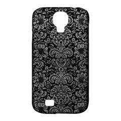 Damask2 Black Marble & Gray Leather Samsung Galaxy S4 Classic Hardshell Case (pc+silicone)