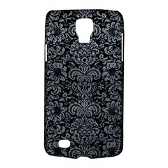 Damask2 Black Marble & Gray Leather Galaxy S4 Active