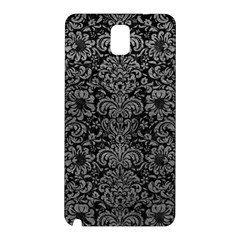 Damask2 Black Marble & Gray Leather Samsung Galaxy Note 3 N9005 Hardshell Back Case