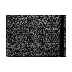 Damask2 Black Marble & Gray Leather Ipad Mini 2 Flip Cases