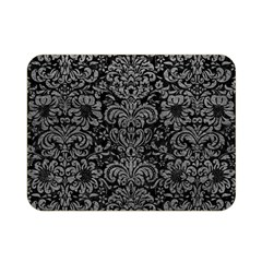 Damask2 Black Marble & Gray Leather Double Sided Flano Blanket (mini)
