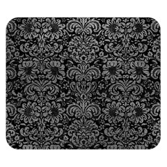 Damask2 Black Marble & Gray Leather Double Sided Flano Blanket (small)