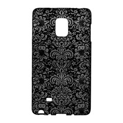 Damask2 Black Marble & Gray Leather Galaxy Note Edge