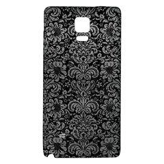 Damask2 Black Marble & Gray Leather Galaxy Note 4 Back Case