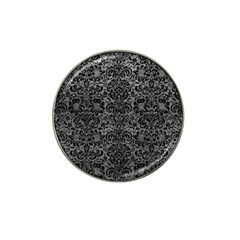Damask2 Black Marble & Gray Leather (r) Hat Clip Ball Marker (10 Pack)