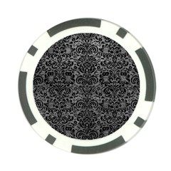 Damask2 Black Marble & Gray Leather (r) Poker Chip Card Guard (10 Pack)