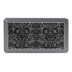 Damask2 Black Marble & Gray Leather (r) Memory Card Reader (mini)