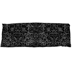 Damask2 Black Marble & Gray Leather (r) Body Pillow Case Dakimakura (two Sides)