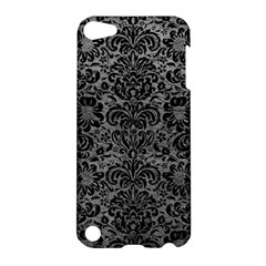 Damask2 Black Marble & Gray Leather (r) Apple Ipod Touch 5 Hardshell Case