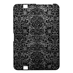 Damask2 Black Marble & Gray Leather (r) Kindle Fire Hd 8 9
