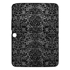 Damask2 Black Marble & Gray Leather (r) Samsung Galaxy Tab 3 (10 1 ) P5200 Hardshell Case