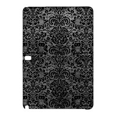 Damask2 Black Marble & Gray Leather (r) Samsung Galaxy Tab Pro 12 2 Hardshell Case