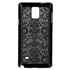 Damask2 Black Marble & Gray Leather (r) Samsung Galaxy Note 4 Case (black)