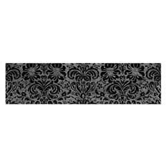 Damask2 Black Marble & Gray Leather (r) Satin Scarf (oblong)
