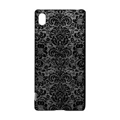 Damask2 Black Marble & Gray Leather (r) Sony Xperia Z3+