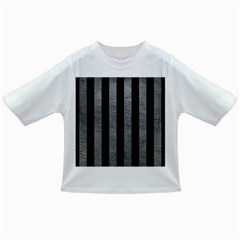 Stripes1 Black Marble & Gray Leather Infant/toddler T Shirts