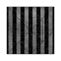 Stripes1 Black Marble & Gray Leather Acrylic Tangram Puzzle (6  X 6 )