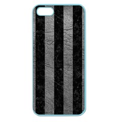 Stripes1 Black Marble & Gray Leather Apple Seamless Iphone 5 Case (color)