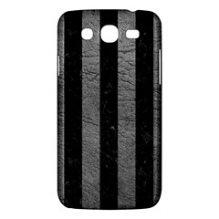 Stripes1 Black Marble & Gray Leather Samsung Galaxy Mega 5 8 I9152 Hardshell Case