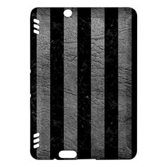 Stripes1 Black Marble & Gray Leather Kindle Fire Hdx Hardshell Case