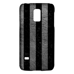 Stripes1 Black Marble & Gray Leather Galaxy S5 Mini