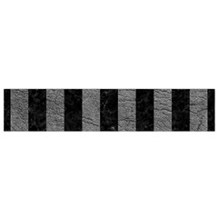 Stripes1 Black Marble & Gray Leather Flano Scarf (small)