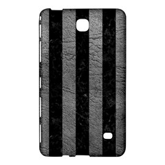 Stripes1 Black Marble & Gray Leather Samsung Galaxy Tab 4 (8 ) Hardshell Case