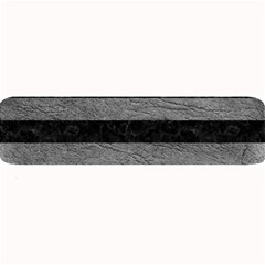 Stripes2 Black Marble & Gray Leather Large Bar Mats