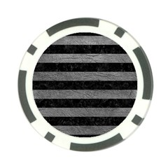 Stripes2 Black Marble & Gray Leather Poker Chip Card Guard (10 Pack)