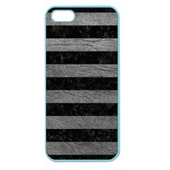 Stripes2 Black Marble & Gray Leather Apple Seamless Iphone 5 Case (color)
