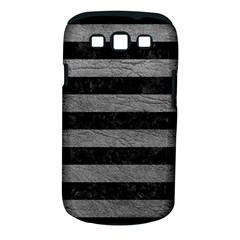Stripes2 Black Marble & Gray Leather Samsung Galaxy S Iii Classic Hardshell Case (pc+silicone)