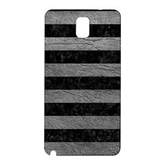 Stripes2 Black Marble & Gray Leather Samsung Galaxy Note 3 N9005 Hardshell Back Case
