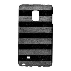 Stripes2 Black Marble & Gray Leather Galaxy Note Edge