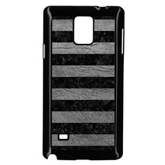 Stripes2 Black Marble & Gray Leather Samsung Galaxy Note 4 Case (black)