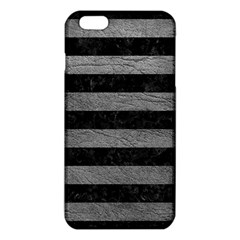 Stripes2 Black Marble & Gray Leather Iphone 6 Plus/6s Plus Tpu Case