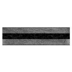 Stripes2 Black Marble & Gray Leather Satin Scarf (oblong)