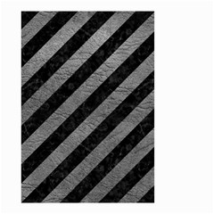 Stripes3 Black Marble & Gray Leather Small Garden Flag (two Sides)