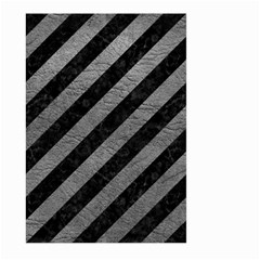 Stripes3 Black Marble & Gray Leather Large Garden Flag (two Sides)