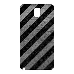 Stripes3 Black Marble & Gray Leather Samsung Galaxy Note 3 N9005 Hardshell Back Case