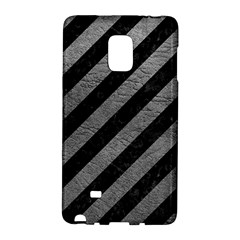 Stripes3 Black Marble & Gray Leather Galaxy Note Edge