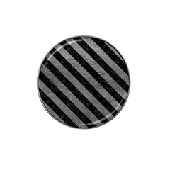 Stripes3 Black Marble & Gray Leather (r) Hat Clip Ball Marker (10 Pack)