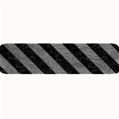 Stripes3 Black Marble & Gray Leather (r) Large Bar Mats
