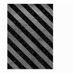 Stripes3 Black Marble & Gray Leather (r) Large Garden Flag (two Sides)