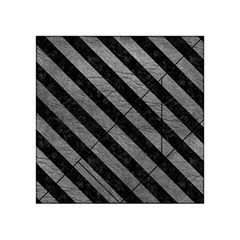 Stripes3 Black Marble & Gray Leather (r) Acrylic Tangram Puzzle (4  X 4 )