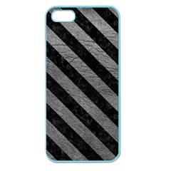 Stripes3 Black Marble & Gray Leather (r) Apple Seamless Iphone 5 Case (color)