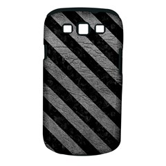 Stripes3 Black Marble & Gray Leather (r) Samsung Galaxy S Iii Classic Hardshell Case (pc+silicone)