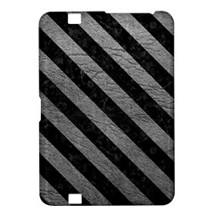 Stripes3 Black Marble & Gray Leather (r) Kindle Fire Hd 8 9